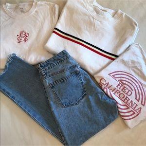 Brandy J Galt Jeans Sweater tee Bundle w/Flaws M L